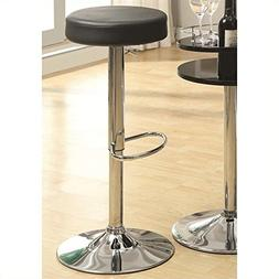 Coaster 102558 29-Inch Round Barstool with Footrest, Black
