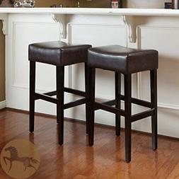 Christopher Knight Home 235134 Lopez Brown Leather Backless