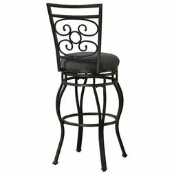 """Bowery Hill 26"""" Swivel Counter Stool in Charcoal Gray"""