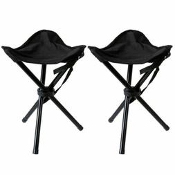 2pcs Slacker Chair Folding Camping Stool Portable Outdoor Fi