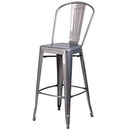 Flash Furniture 30'' High Clear Coated Indoor Barstool with