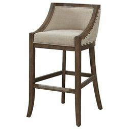 """Bowery Hill 30"""" Stationary Bar Stool in Warm Brown and Light"""