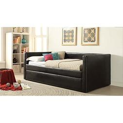 ACME Furniture 39140 2 Count Aelbourne Daybed & Trundle, Bla
