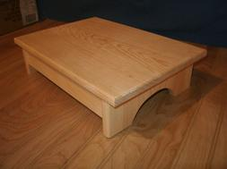 "4"" adult step stool,Unfinished  Wooden step stool, wood step"