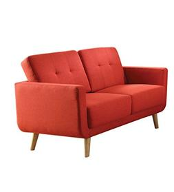 Acme Furniture 52661 Sisilla Loveseat, Red Linen