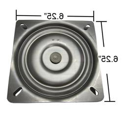 """6.25"""" Replacement Bar Stool Swivel Plate - Made in the USA -"""