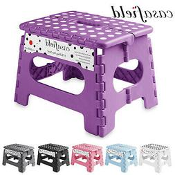 "9"" Collapsible Folding Plastic Kitchen Step Foot Stool w/ Ha"