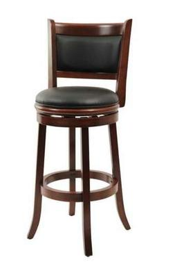 Boraam 49829 Augusta Bar Height Swivel Stool, 29-Inch, Cherr