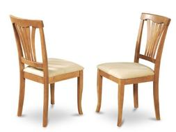 East West Furniture AVC-OAK-C Chair Set with Cushion Seat, O