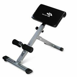Costway Adjustable AB Back Bench Hyperextension Exercise Abd