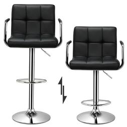 Adjustable Modern Swivel Bar Stools Dining Chair Counter Hei
