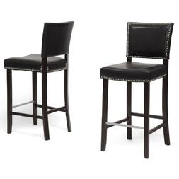 """Wholesale Interiors Aries 19"""" Modern Bar-Height Stool with N"""