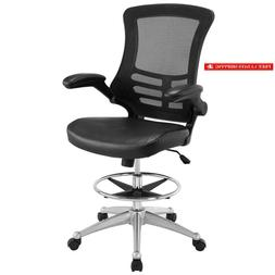 Modway Attainment Drafting Chair In Black - Tall Office Chai