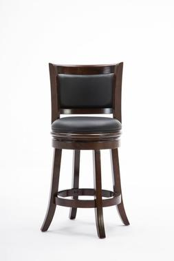 augusta 24 inch swivel cushioned counter stool