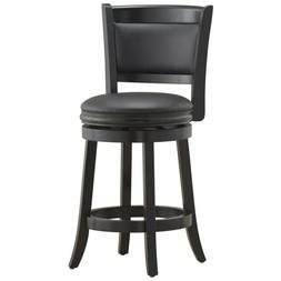 Augusta 24 Inch Swivel Cushioned Counter Stool Seat Solid Ha