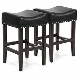 Best Choice Products Set of 2 Backless Faux Leather Upholste
