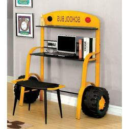 Furniture of America Billy Novelty School Bus Desk and Stool