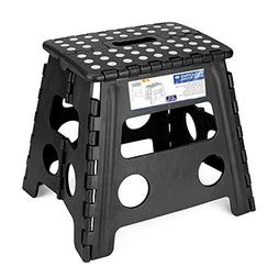 Acko Blue Folding Step Stool - 13 inch Height Premium Heavy