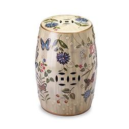 Zingz and Thingz Butterfly Garden Ceramic Stool