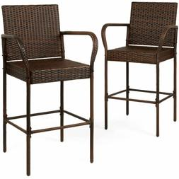 Best Choice Products Set of 2 Indoor Outdoor Wicker Barstool