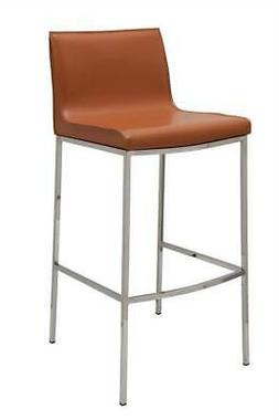 Colter Leather Bar Stool in Ochre