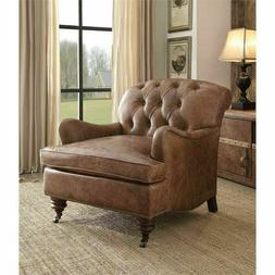 ACME Furniture Comfortable Durham Accent Chair in Retro Brow