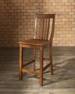 "Crosley Furniture School House Bar Stool with 24"" Seat Heigh"