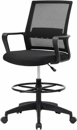 Drafting Chair Tall Office Chair Adjustable Height with Lumb