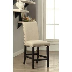 Furniture of America Larns Contemporary Upholstered Barstool