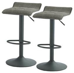 Fabric Stool in Gray - Set of 2
