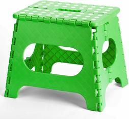 "Folding Step Stool - 11"" Tall Foldable Stepping Stools for K"