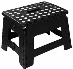 "Folding Step Stool for Kids 11"" Wide 9"" Tall Plastic 300lbs"