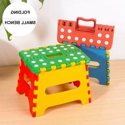 Folding Step Stool for Kids Tall Plastic 300 lbs Capacity Po