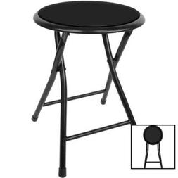 """Folding Stool – Heavy Duty 18"""" Collapsible Padded Round W"""