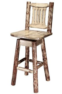 Montana Woodworks Glacier Country Collection Barstool with B