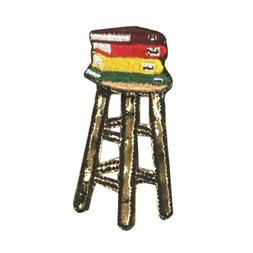 ID 0988A School Stool With Books Patch Class Chair Embroider