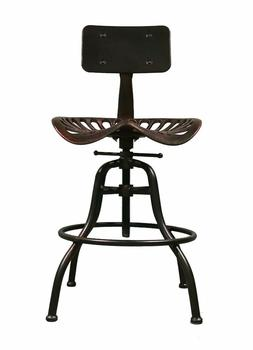 Industrial Swivel Bar Stool Tractor Seat Coffee Dining Chair