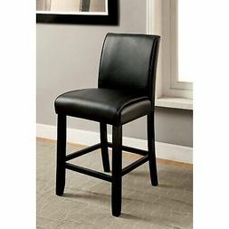 Furniture of America Jared Traditional Black Counter Stools