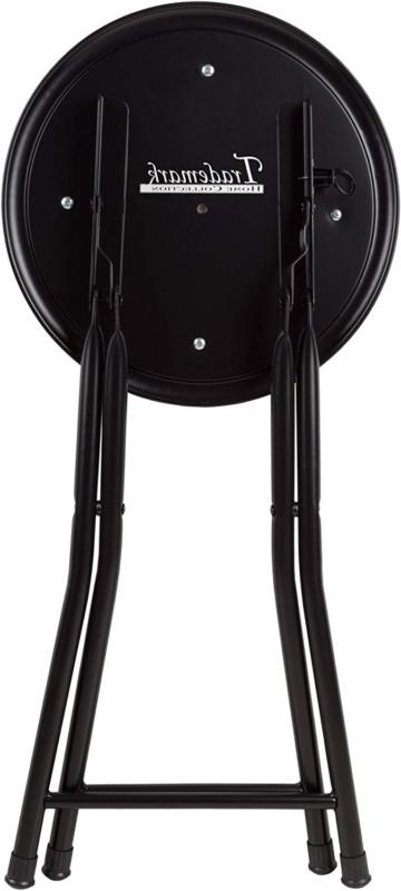 18in Round Foldable Seat Bar Counter Chair
