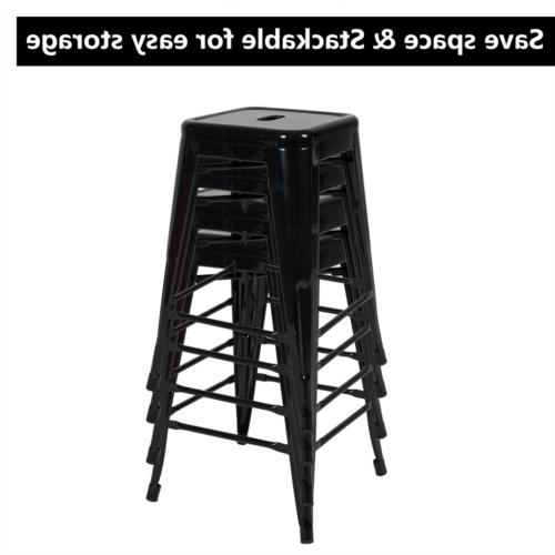 Set of 4 inch Counter Stools Black