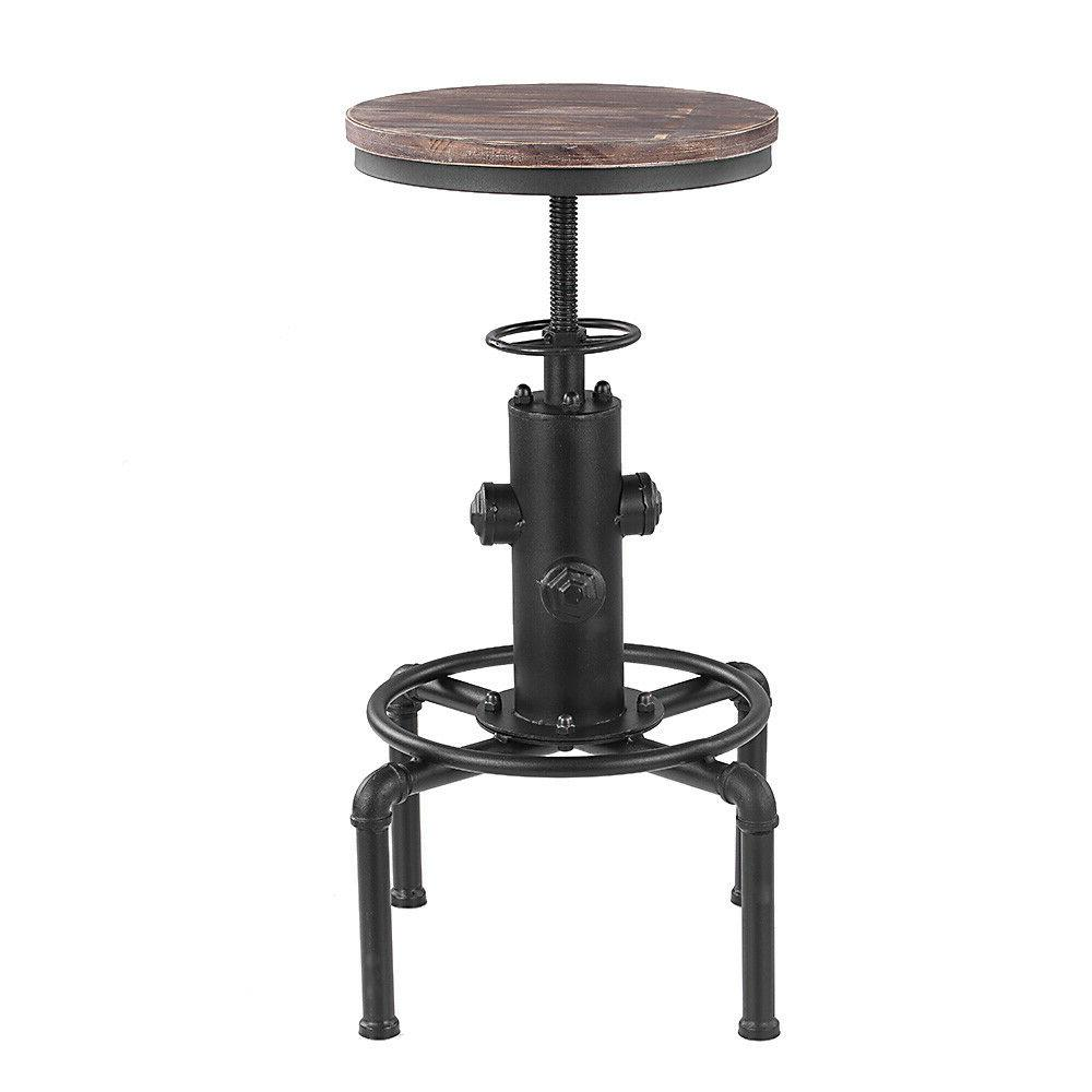 2pcs Stool Industrial Metal Height Chair