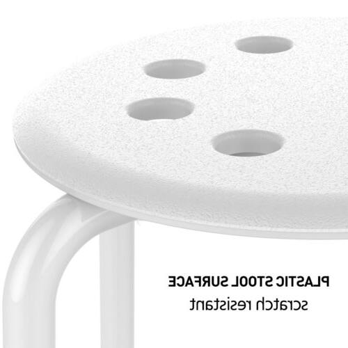 5x Plastic Stack Bar Stools for Kids Classroom Seating
