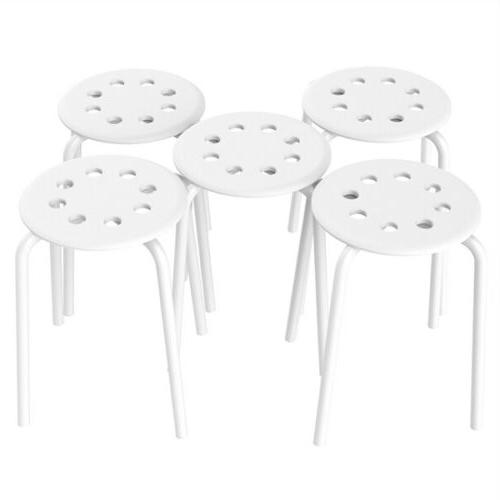 5x plastic stack bar stools for kids