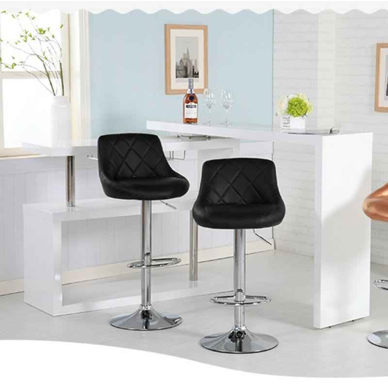 Adjustable Modern Bar Stools Dining Chair Counter Height Set of 2