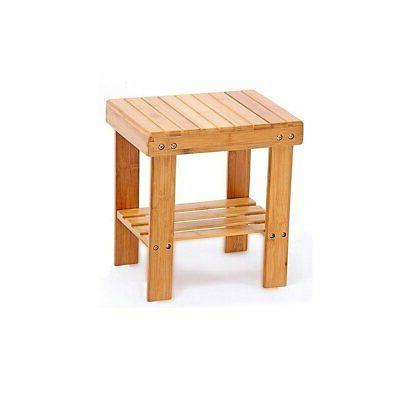 Famistar Bamboo Step Stools For Anti-Slip