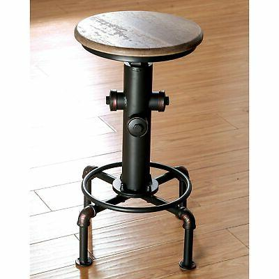 Furniture of America Cess Industrial Black Counter Stools An