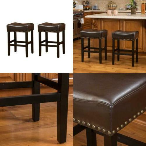 Christopher Knight Home Chantal Bonded Leather Studded Accen
