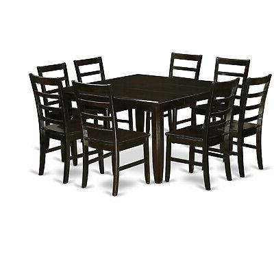"""East West dining set, 54x54"""" + chairs cappuccino"""