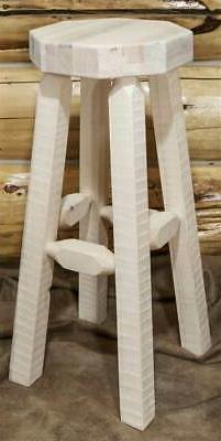 Eco-friendly Ready to Finish Backless Counter Stool