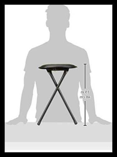 Folding Stool Duty Collapsible Round W 300 Capacity